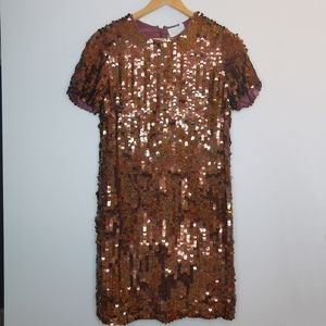 ASOS Revive Sequin brown dress NEW